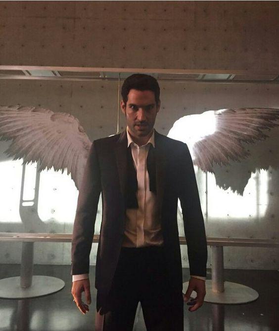 Tom Ellis as Lucifer with Wings